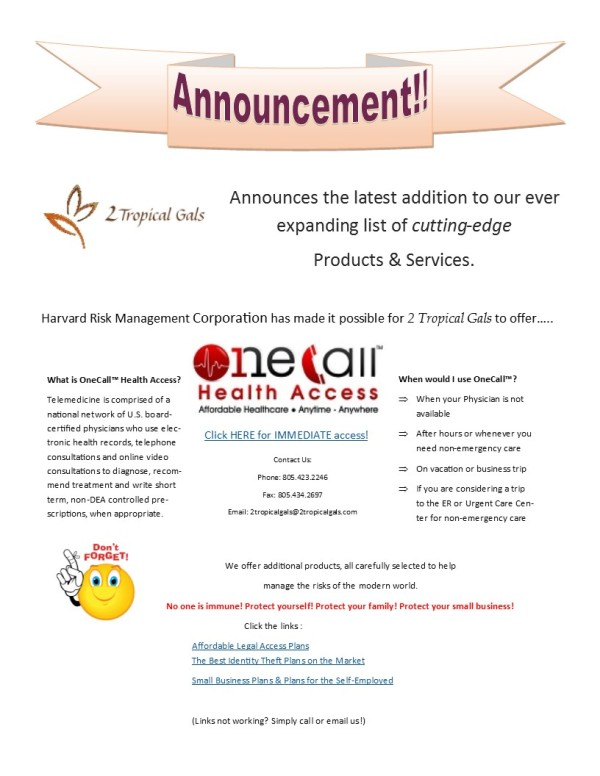 OneCall Health Access Announcement June 2014